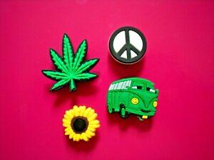 Shoe Charm Garden Boat Button Pin Plug Compatible W//Crocs Shoes Marijuana Weed