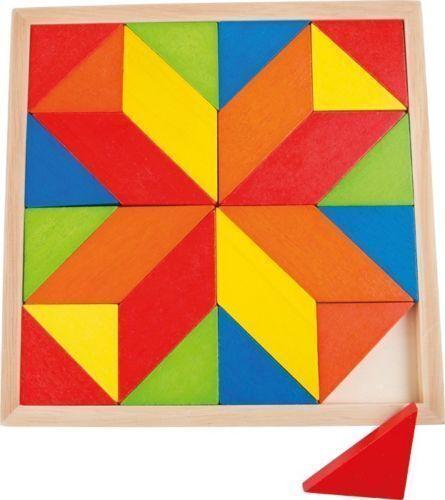 Holzspielzeug Mosaik Stern Holz Legespiel Mosaikpuzzle  Puzzle Legemuster Kreativität