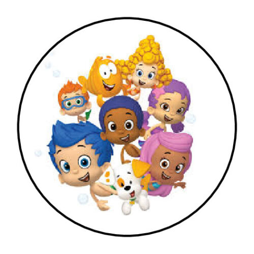 "30 Bubble Guppies Stickers Envelope Seals 1.5/"" round"