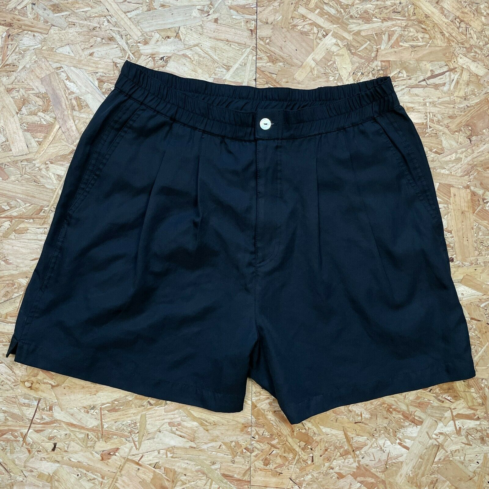 Women's Black Ellesse High Waisted Tennis Shorts Size L Ladies, With Pockets