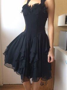 Belle Robe Noire Reveillon Fete Mariage Taille 36 Ou Xs Ebay