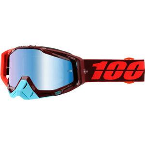 100/% Strata MX Brille verspiegelt MX Enduro Motocross Crossbrille 18 mirror