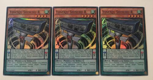 3 x YOSENJU SHINCHU R SUPER RARE THSF-EN007-1ST EDITION  YuGiOh