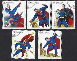 Kanada-2013-Superman-Set-Mit-5-Ex-Miniatur-Blatt-Fein-Gebraucht