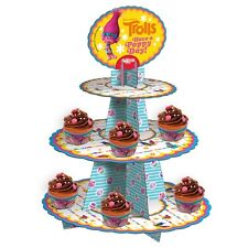 CAKE STAND 3-Tier Cupcakes stand Cake - TROLLS - Have a POPPY Day - New