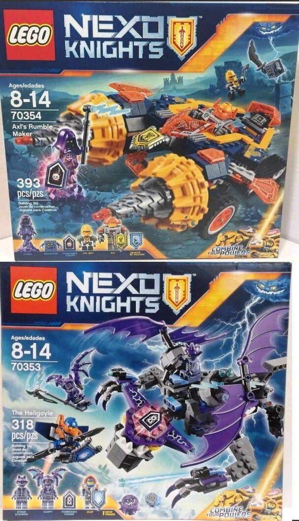 Lego Nexo Knights The Heligoyle 70353 & Nexo Knights  Axls Rumble renderer 70354nuovo  è scontato