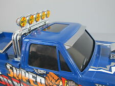 Stainless Front Windshield Sun Visor for Tamiya 1/10 RC Toyota Clodbuster Truck