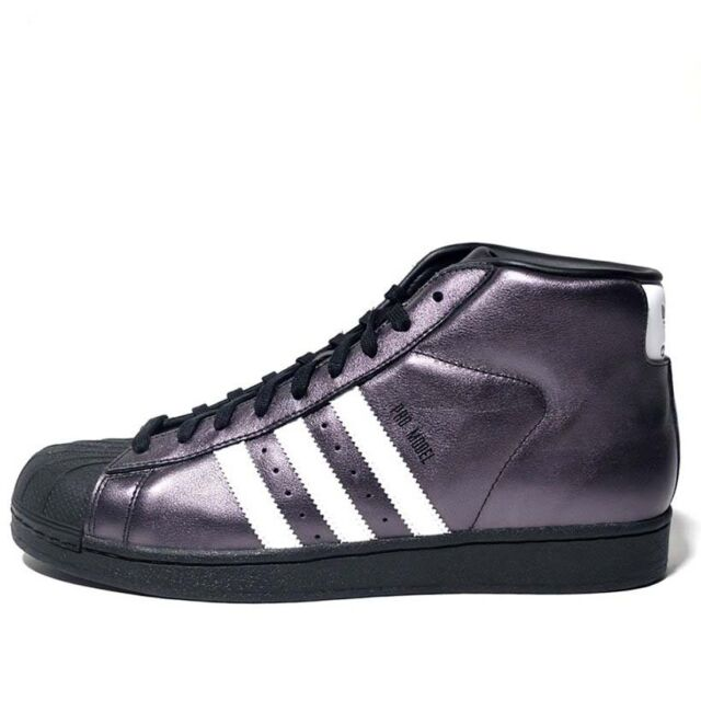 low priced e6524 69d97 Adidas Originals Men s PROMODEL Shoes Black White Shiny S75850 a