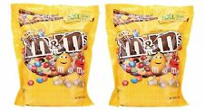 2 Bags Of M&M's 62 oz Peanut Original Bulk Chocolate Candy XXL Bag M&Ms