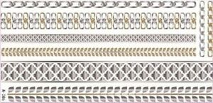 Flash-Temporal-Tatuaje-CLASSIC-ORO-PLATA-8teile-Pulsera-Cadena-Anillo-Body