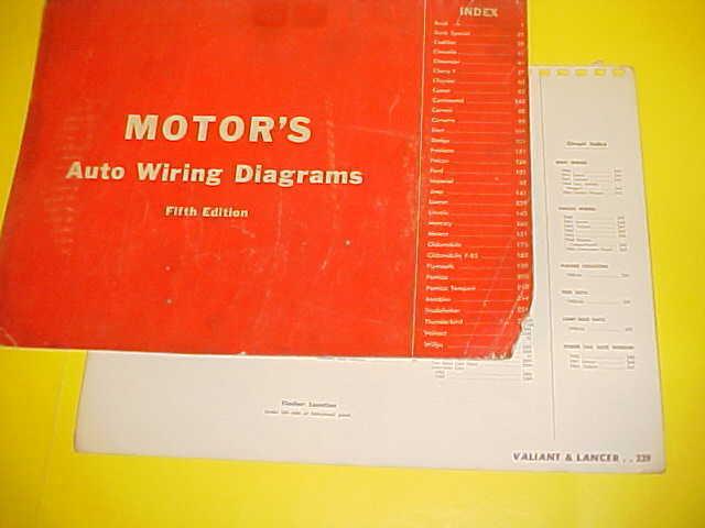 1960 1961 1962 1963 1964 Plymouth Valiant Barracuda Dodge Lancer Wiring Diagrams