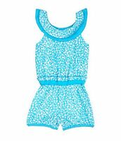 Baby Girls Clothes Starting Out Infant Round Neck Romper 12 M Blue $16