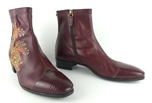 Gucci Men's Burgundy Leather Boots