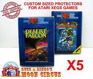 5x-ATARI-XEGS-CIB-GAME-BOX-CLEAR-PROTECTIVE-BOX-PROTECTOR-SLEEVE-CASE