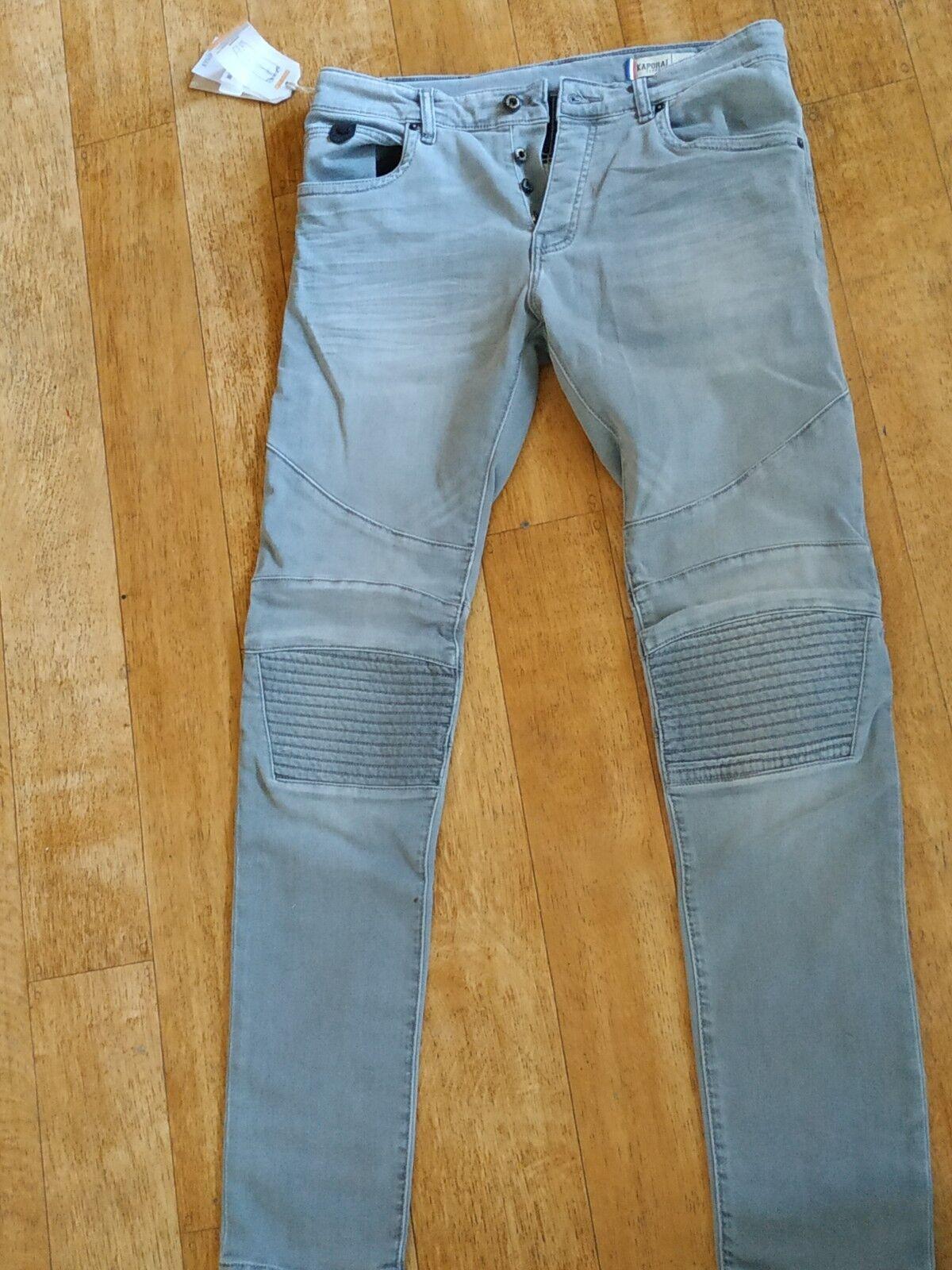 Jeans Kaporal Slim Kaporal Jeans Homme Laron Acid Taille Fr 42 Us 32
