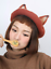 Lady-Sweet-Fox-Ear-Beret-Cap-Lolita-Vintage-Genuine-Barett-Wool-Warm-Painter-Hat thumbnail 4