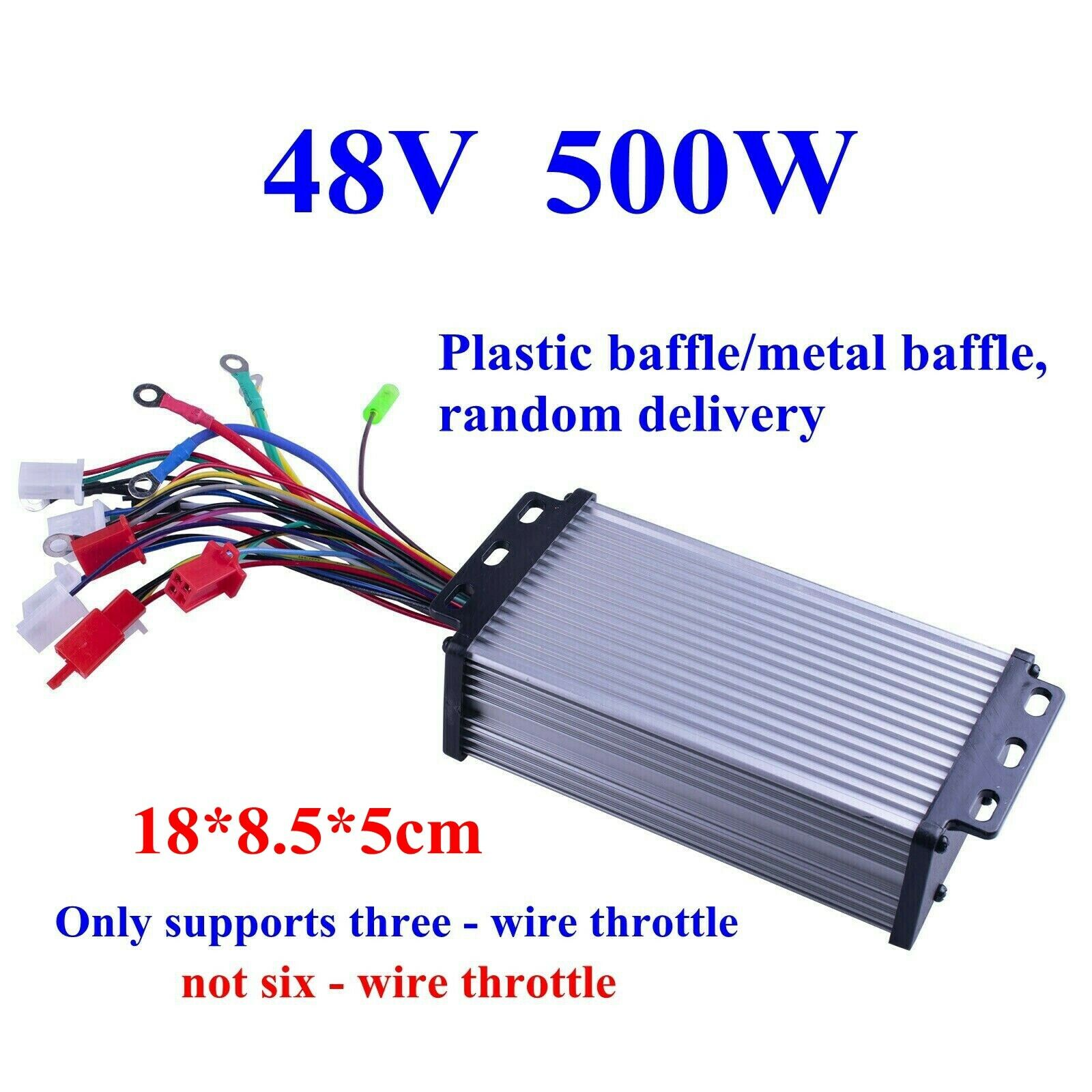Yanmis 500W Motor Brushless Controller Multifunction Motor Controller for Electric Skateboard Ebike Scooter Electric Bicycle Scooter 500W48V