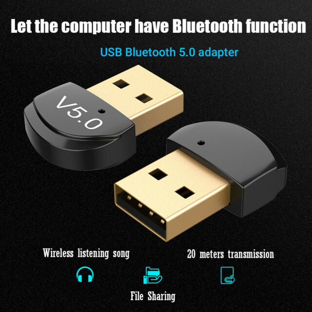 Mini USB Bluetooth 5.0 Wireless Adapter Dongle Audio Receiver for PC Win 10 8/XP