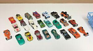 Vintage-24pc-Hot-Wheels-Hotwheels-Diecast-Lote-Coches-Camiones-Furgonetas-y-mas