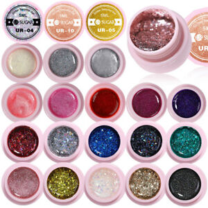 35-Colors-Glitter-Sequins-UV-Gellack-Starry-Silver-Red-Green-Nail-UV-LED-Gel-5m