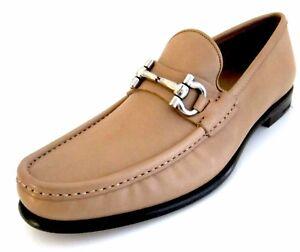 5d34dda4758 Image is loading Salvatore-Ferragamo-Mason-leather-loafers-shoes-8-D-M-