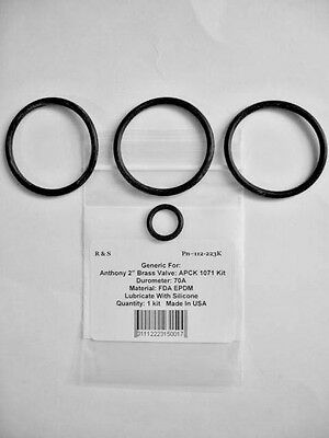"Fashion Style Anthony 2 "" Ottone Push Pull Valvola O-ring Kit Apck1071 / R&s 112-223k / Fda"
