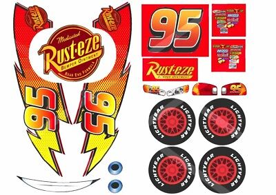 This is a graphic of Dashing Lightning Mcqueen Printable Decals