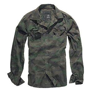 Brandit-Slimfit-Camiseta-Bosque-Camisa-outdoor-camuflaje