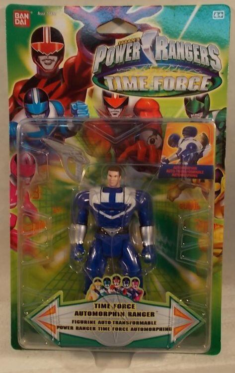 Energia Rangers Time Force Auto Morphin Flip Head  blu Ranger Beai (MOC) RARE   fino al 70% di sconto