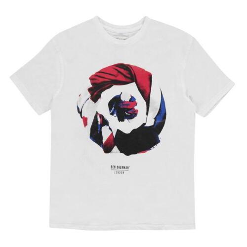 BNWT Ben Sherman Boys White Printed 100/% Cotton T-Shirt