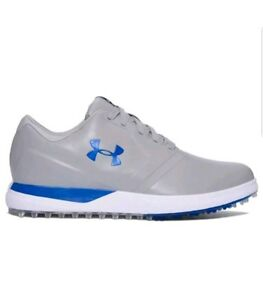 b135d78f Details about New Under Armour Performance SL Spikeless Leather Golf Shoes  Gray Blue size 9.5