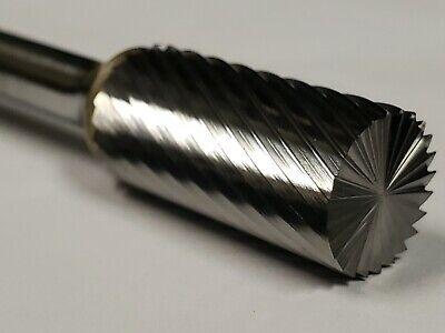 "SB3D Cylindrical Cut Tungsten Carbide Burr Bur Cutting Tool Die Grinder Bit 1//4/"""