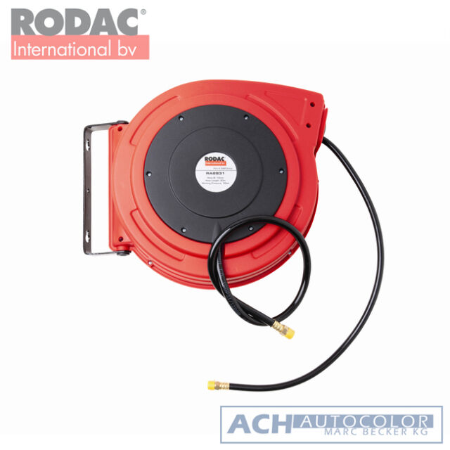 RODAC RA8831 Druckluft  Schlauchaufroller PU 10x15mm - 20 mtr RA 8831