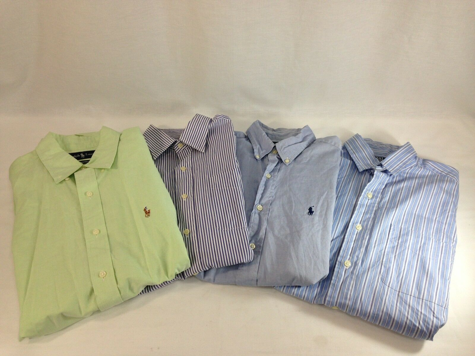 289b3a8631b62 Polo Ralph Lauren Dress Shirts Lot Of 4 Men 2 M Button Down L S Casual Pony  1 15 ntpjof17660-Formal Shirts