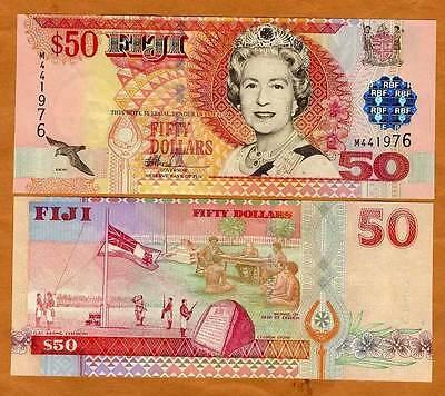 P-108 FIJI ND QEII UNC --/> OVD $50 2002