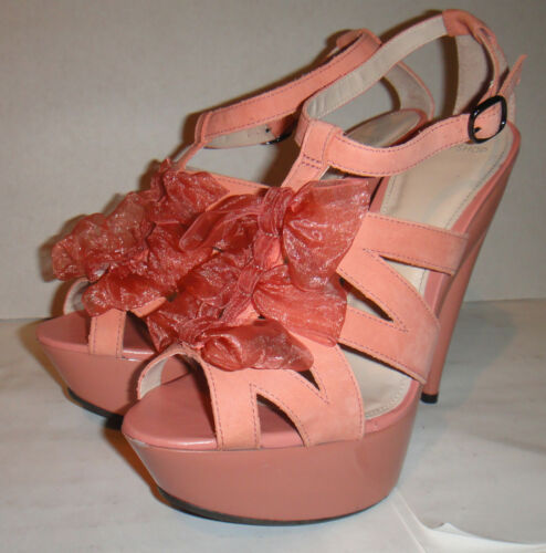 Chiffon Stiletto Pink Burlesque Dita Topshop Lorna 7 Platform 40 Strappy Peeptoe THEBx