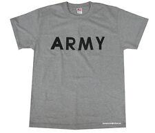 Mens Army Military US British Surplus Combat T-shirt Tshirt Grey Training Large