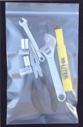 "1000 4 Mil 3X3/"" Zip Reclosable Lock Poly Bag Zipper Clear Plastic Packaging Bags"