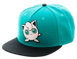 Image is loading Pokemon-JIGGLYPUFF-Logo-Character-Snapback-Baseball-CAP-HAT d23d40c8fc53