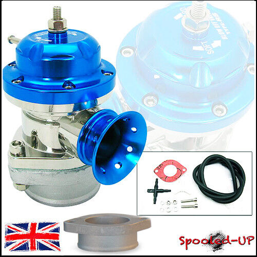 UNIVERSAL LT BLUE 40MM TYPE RS TURBO ADJUSTABLE BLOW OFF DUMP VALVE fits Greddy