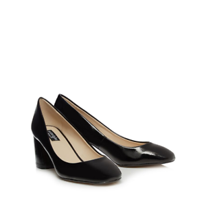 034-MASSIVE-SALE-034-Principles-Black-patent-mid-block-heel-court-shoes-SIZE-UK-7