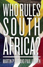 MARTIN PLAUT__ WHO RULES SOUTH AFRICA __ SHELF WEAR __ FREEPOST UK