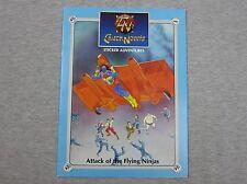 NEW Vintage Chuck Norris Sticker Adventures Attack of the Flying Ninjas 1986