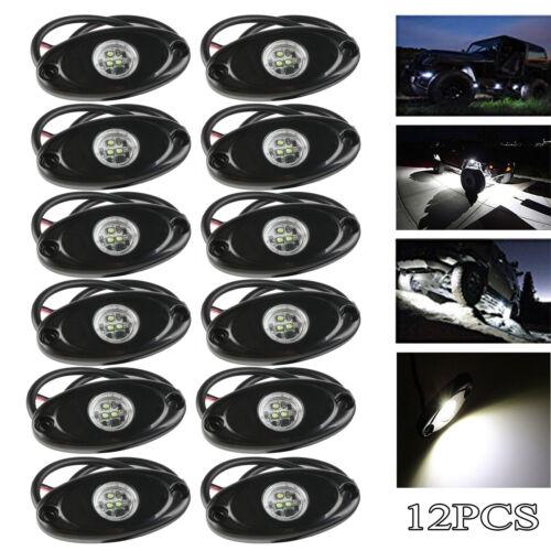 12x 9W CREE LED Rock Light for Truck Boat Car Underbody Fender Side Fog Lamp DRL