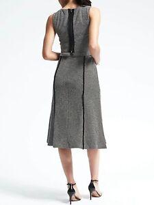 NWT-Banana-Republic-New-138-00-Women-Convertible-Jacquard-Dress-Size-2-2Tall