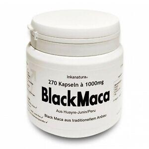 BLACK MACA 270Stk. KAPSELN à 1000mg aus Peru - HOCHDOSIERT! Inkanatura® Schwarz