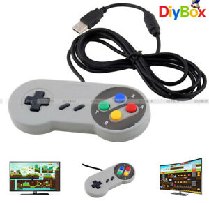 USB-Wired-SNES-Controller-Retro-Gaming-Joystick-Joypad-Gamepad-For-Nintendo