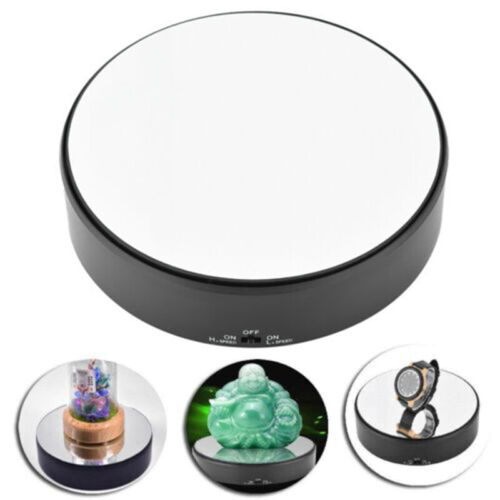 360° Mirror Top Rotating Rotary Turntable Display Stand Jewelry Show Holder