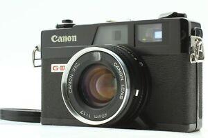 [exc+4] Canon Canonet ql17 GIII g3 Black Rangefinder Film Camera aus Japan 967