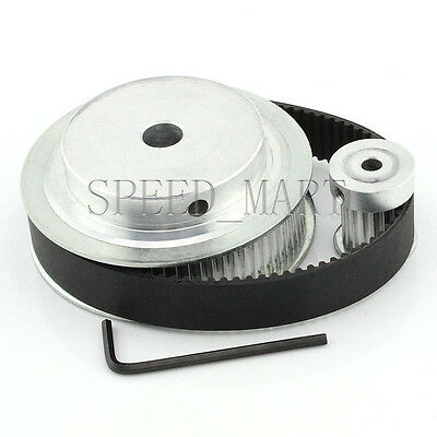 2pcs HTD3M 20 Teeth Timing Pulley 15mm Width Belt Set Kit Reducer Ratio 1:1